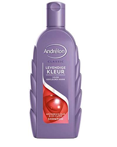 6er Pack - Andrelon Shampoo - Lebendige Farbe (Levendige Kleur) - für die Pflege und den Schutz von gefärbtem Haar - 300 ml