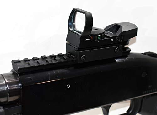 TRINITY Mossberg 500 12 Gauge Shotgun Pump Red Green Reflex Sight Scope Rail Mount Package Picatinny Weaver Base Aluminum Black Hunting Tactical Optics Single Rail Mount.