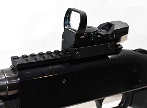 TRINITY Mossberg 500 12 Gauge Shotgun Pump Red Green Reflex Sight Scope Rail Mount Package Picatinny Weaver Base Aluminum Black Hunting Tactical Optics Single Rail Mount.
