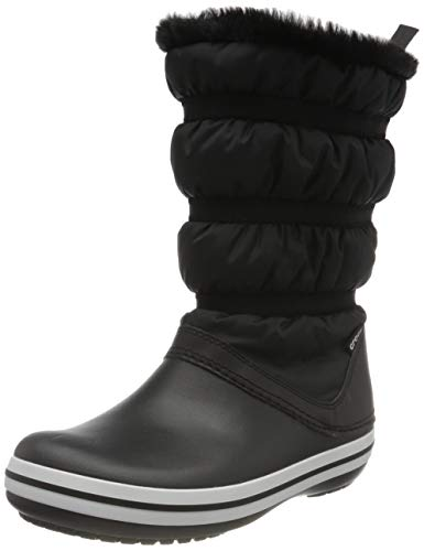 Crocs Crocband Boot Women, Botas para Nieve para Mujer, Negro y Negro, 37.5 EU