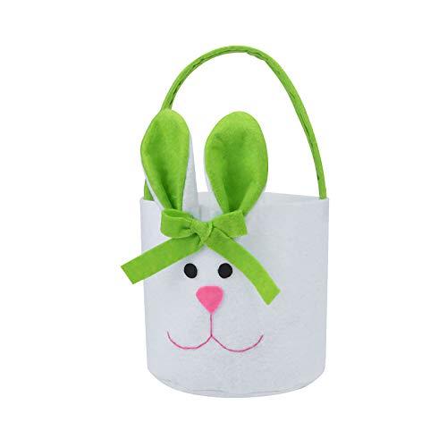 N\A Osterhasen Süßigkeiten Taschen 3D-Druck Tragetaschen Cute Naughty Ostern Körbe Sammeltasche Kinder Einkaufstasche Hochwertige Osterei Bucket für Ostern Hochzeit Geburtstag Taufe Party