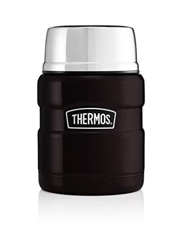 Thermos Stainless King Food Flask, Matte Black, 470 ml