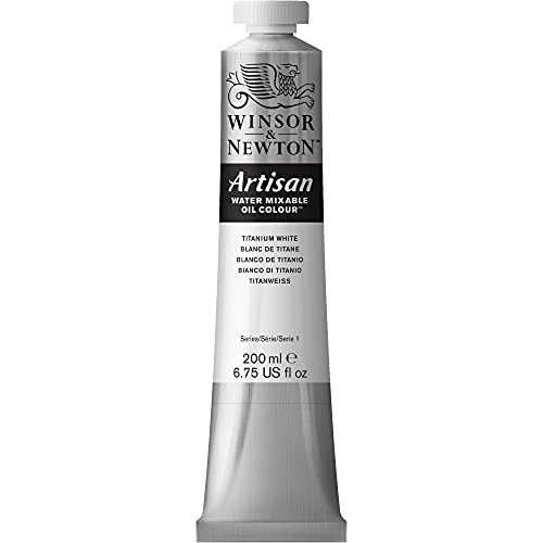 Winsor & Newton 1537644 Artisan wassmischbare Ölfarbe - 200ml Tube, hohe Pigmentkonzentration, gute Deckkraft & Lichtechtheit - Titanweiss