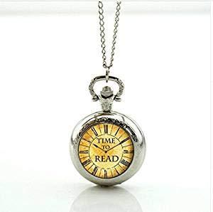 So Many Books So Little Time - Collar con relicario de bolsi
