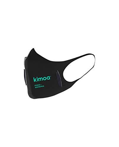 KIMOA Mask Mascarilla, Adultos Unisex, Negro, Estandár ⭐