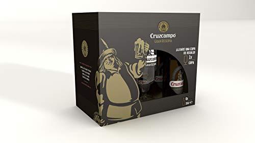 Cruzcampo Gran Reserva Cerveza Tostada con Copa - Paquete de 6 Botellas x 330 ml
