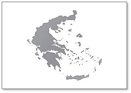 Griekenland Kaart Klassieke Koelkast Magneet