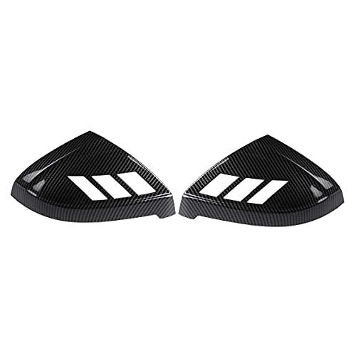 ZST-DM Cubierta De Espejo Retrovisor, para Audi A4 S4 Rs4 A5 S5 Rs5 Todos Los Modelos 2017-2020 Un Par De Tapa para Automóvil, Cubierta De Espejo Lateral, Carcasa, Apariencia De Fibra De Carbono
