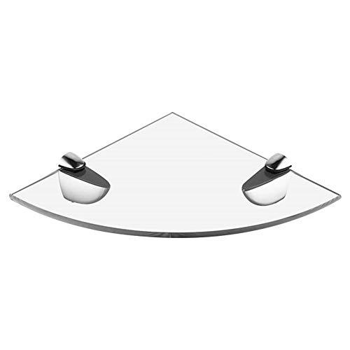 winnerruby – Estantería esquinera de acrílico, estantería de baño de pared, estantería de ducha para dormitorio, salón, oficina – 9,4 x 9,4 pulgadas