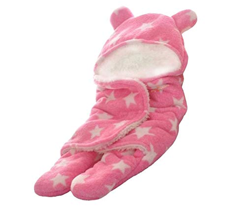 MY NEWBORN Baby Blanket Wrapper Hooded Sleeping Bag (Wrapper-Pink)