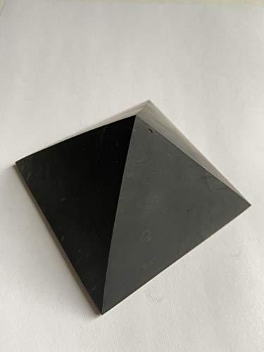 Russian Goods and Life Shungite - Pirámide sin pulir, 90 x 90 mm, piedras minerales, tamaño grande