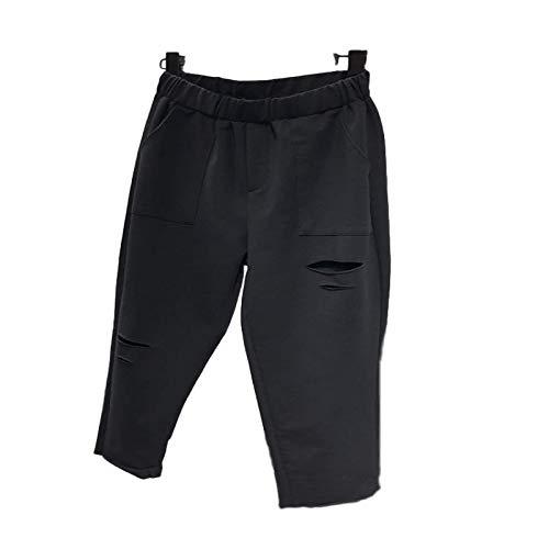 Mujeres Color sólido Hollow out Workout Yoga Running Athletic Casual Sports Pantalones recortados Pantalones de Moda con Bolsillos M