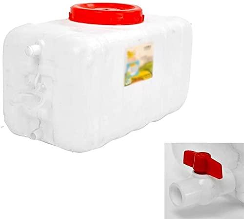qwert Almacenamiento De Agua Cangilón Al Aire Libre Plástico De Grado Alimenticio Coche Depósito De Agua Resistente A Ácidos Y Álcalis,50l