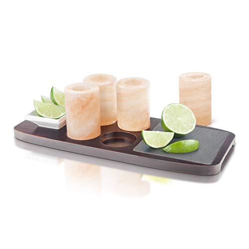 Final Touch Planche à Tequila avec salière 7 pièces