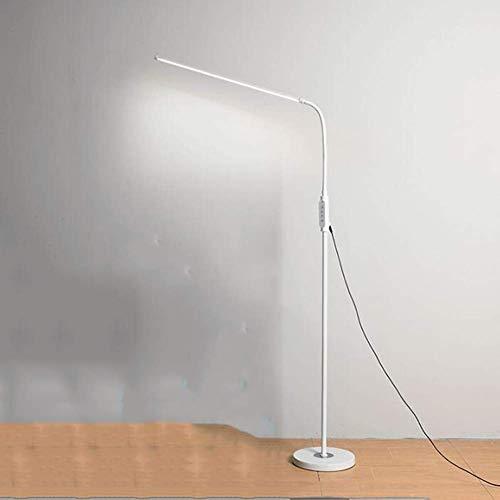 FACAIA Lámpara de pie LED, Regulable para Sala de Estar, Dormitorio, Larga Vida útil, Altos lúmenes, Control táctil, luz de Suelo, 5 Niveles de Brillo y 3 Colores