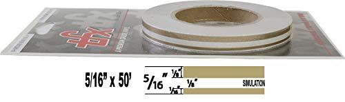 """Universal TFX 00053098 - Auto Customizing Dual Pinstripe - 5/16' x 50' (1/8"""" Stripe, 1/8' Gap, Then 1/16"""" Stripe) - 098-Autumn Gold Metallic"""