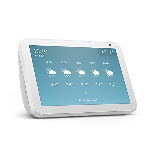 Echo Show 8 (1.ª generación, modelo de 2019) | Pantalla inteligente con Alexa | Mantén el contacto con la ayuda de Alexa | Blanco