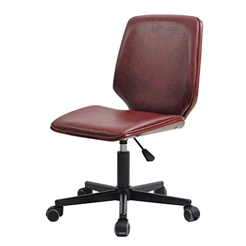 Lwjby bureaustoel van massief hout, in hoogte verstelbaar, draaistoel in retro stijl