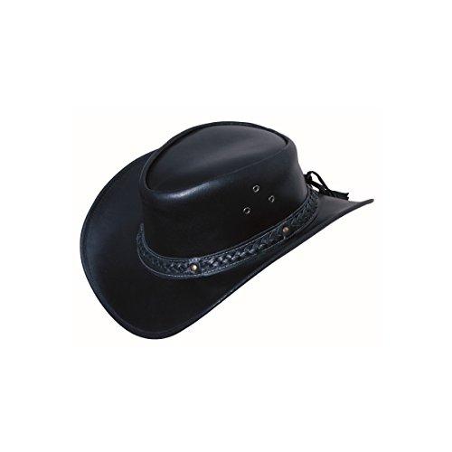 Scippis Leder Westernhut Cowboyhut »FRISCO« Black Gr.L