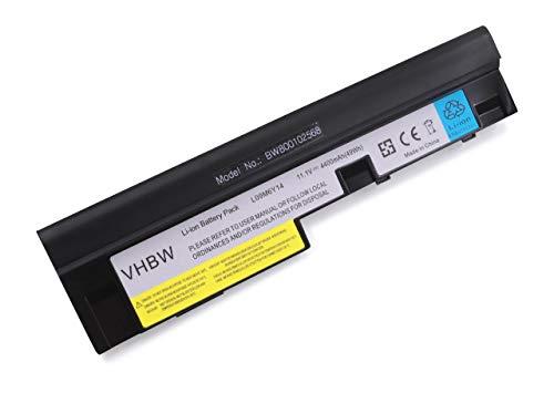 vhbw Akku passend für Lenovo IdeaPad Ideapad S205, Ideapad U160, S10-3, S10-3 - 06474CU Laptop Notebook (Li-Ion, 4400mAh, 11.1V, 48.84Wh, schwarz)