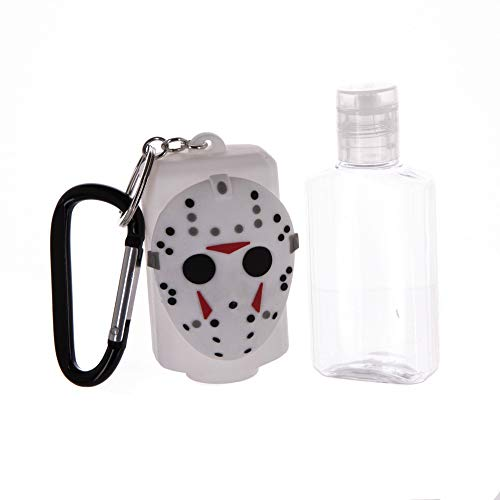 Friday The 13th Rubber Keychain with Hand Sanitizer Bottle Holder