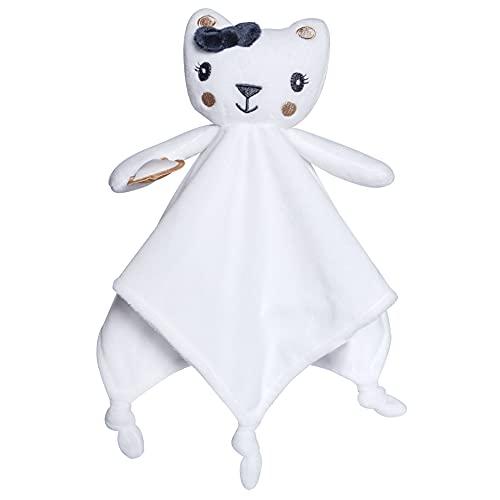 Viviland Manta para bebé con peluche para recién nacidos, manta para muñecas de bebé recién nacido, toallas de chupete y patucos