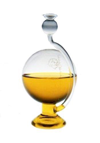 Oberstdorfer Glashütte Goethebarometer antiker Stil rundes Barometer Wetterstation zum aufstellen klares Glas dekorativ Wetterstation Größe ca. 11,5x20 cm