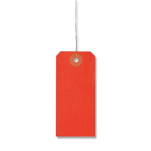 HEIKO ヘイコー 荷札 中 赤 (1000枚入) サイズ42×90mm 003501900