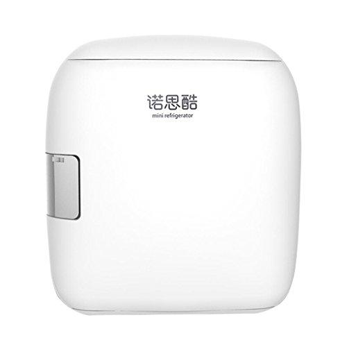 JCOCO 9L Silent Dual-core Mini fridge Cooler and Warmer—White