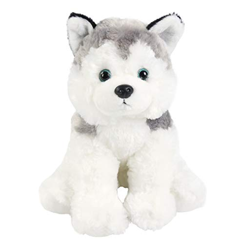 Bstaofy Husky Stuffed Animal Puppy Plush Toys Dog Realistic Soft Cuddle Adorable Gifts for Kids Toddlers on Birthday Christmas Festivals, 12