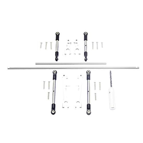 TwoCC Rc Zubehör, Stabilisator Vorne + Metall Hinten Gpm Und Stabilisator Arm Und Rod Set für Traxxas Udr S2 (Silber)