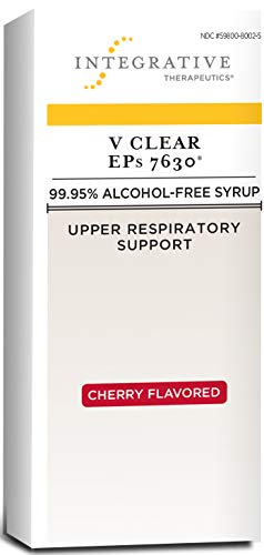 Integrative Therapeutics - V Clear EPs 7630 - Homeopathic Cold Medicine - Upper Respiratory and Lung Health Support - 99.95% Alcohol-Free Syrup - Cherry Flavored for Children and Adults - 4 fl oz