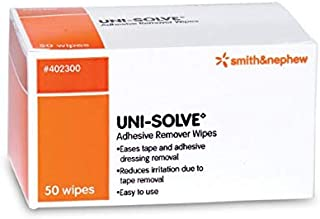 Uni Solve Adhesive Remover Wipes, 50 Each