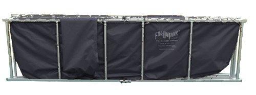 Vinyl Fol-Da-Tank FDTS-4000-ALUM-30VNYL-BLK Portable Folding Frame Tank Black 153 x 153 x 29 Aluminum 30 oz