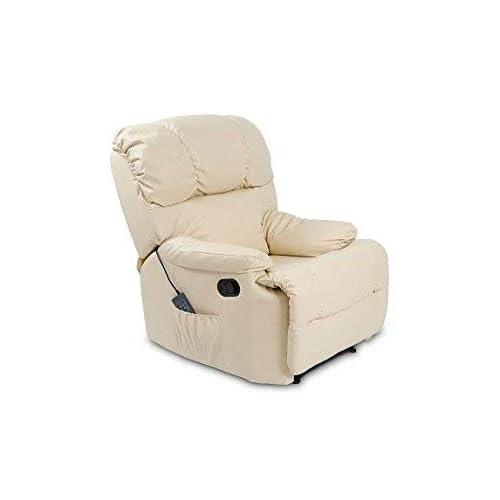Cecotec Fauteuil de massage relaxChauffant10 programmes10 intensités8 moteursTélécommande avec minuterieEn similicuir de haute qualitéPoche porte-objets-