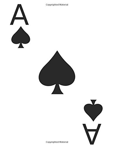 Ace of Spades Playing Card Design (Blank Lined Journal / Notebook)