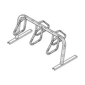 City Bicycle Rack, Double Sided, Flange Mount, 5-Bike