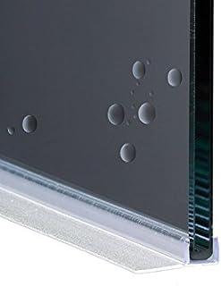 200cm EC-12-119 Guarnizione Box Doccia con Gocciolatoio per Vetri Curvi e Dritti di spessore da 6 mm