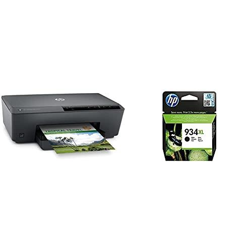 Hp Officejet Pro 6230 - Impresora Tinta, Color, Wi-Fi + C2P23Ae 934Xl Cartucho De Tinta Original De Alto Rendimiento, 1 Unidad, Negro