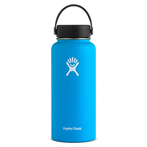 Hydro Flask Water Bottle - Stainless Steel & Vacuum Insulated - Wide Mouth with Leak Proof Flex Cap - 32 oz, Pacific