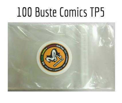 100 Buste per fumetti formato COMICS TP 5 - W.R. Buste