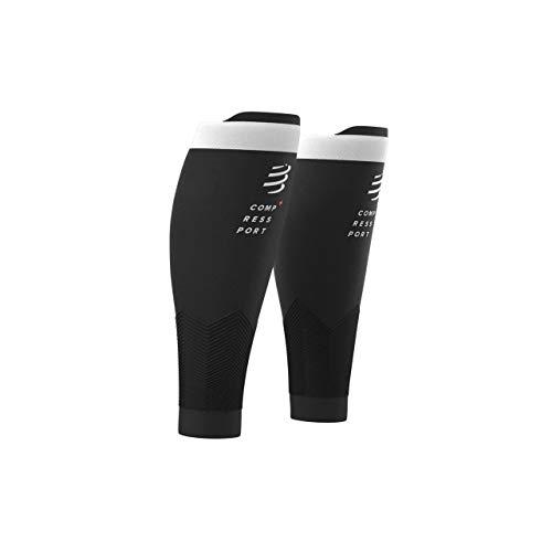 COMPRESSPORT R2V2 - Manga de compresión para las pantorrillas - Protección muscular, rendimiento y recuperación para el deporte - Ultraligero y anti-fatiga - Correr, Ciclismo, Trail y Triatlón, Negro