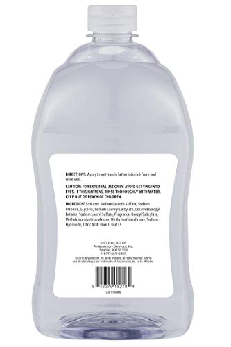 Amazon Brand - Solimo Gentle & Mild Clear Liquid Hand Soap Refill, Triclosan-free, 56 Fluid Ounce, Pack of 1