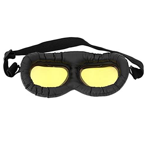 Mxzzand Gafas con Montura Negra Gafas al Aire Libre Antigolpes Elegante protección Ocular Iding Impermeable para(A124 Yellow Film-Black Frame)