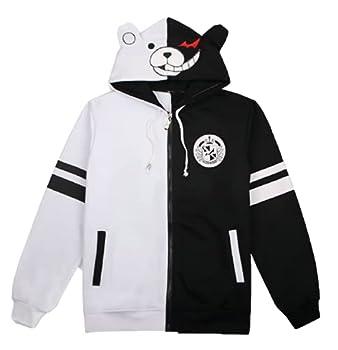 GK-O Danganronpa Monokuma Black and White Bear Hoodie Jacket Cosplay Costume  Asian Size Medium