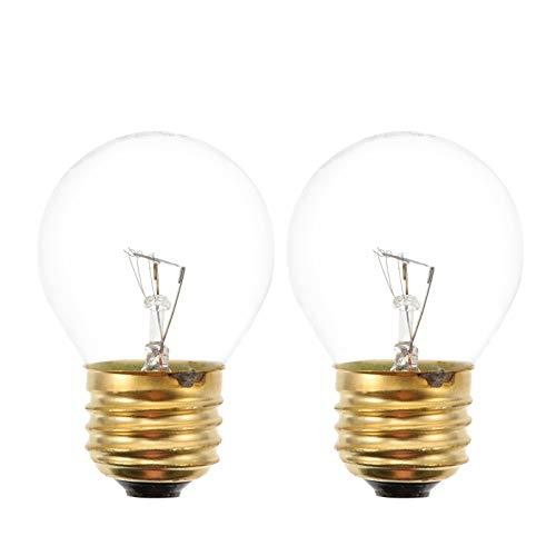 OSALADI E26 Bombillas para Horno Microondas 40W 20-240V Bombillas para Refrigerador Luz Amarilla Cálida para Refrigerador Horno Microondas Candelabros Iluminación Colgante (2 Piezas)