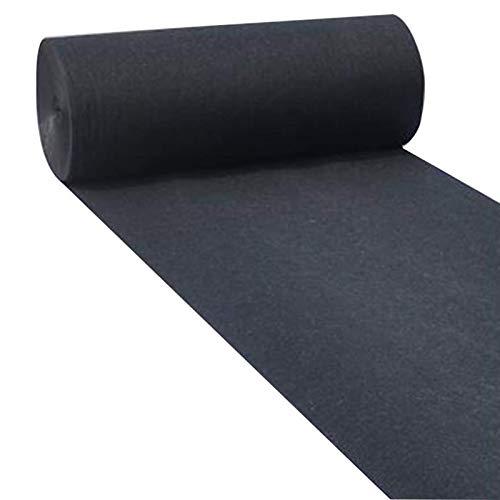 Alfombra Negra Decoraciones De La Boda Del Corredor Del Pasillo Negro, Alfombras De 2.2 Mm De Espesor De Poliéster Para La Boda De Graduación, Corredor De Alfombra De(Size:1.2×30m(4×98ft),Color:negro)