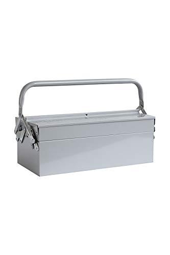 House Doctor - gereedschapskist - Toolbox - staal - blauw/grijs - 42x20x11,5cm