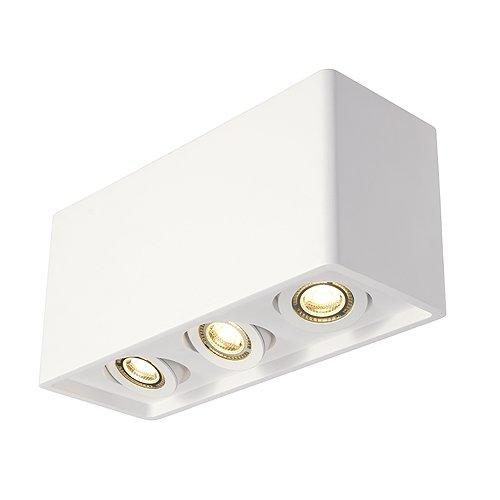 Gips-Deckenleuchte PLASTRA BOX 3, eckig, 3xGU10, max. 35W, weiß EEK: A++ - E