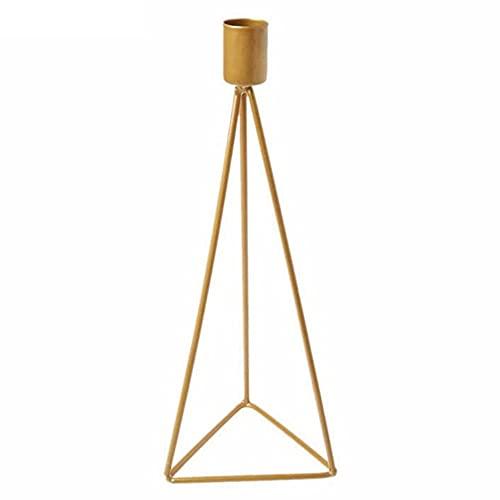 Candelabros Triángulo Geométrico Hierro Candelabro Ornamento para Decoración Oro L Decoración
